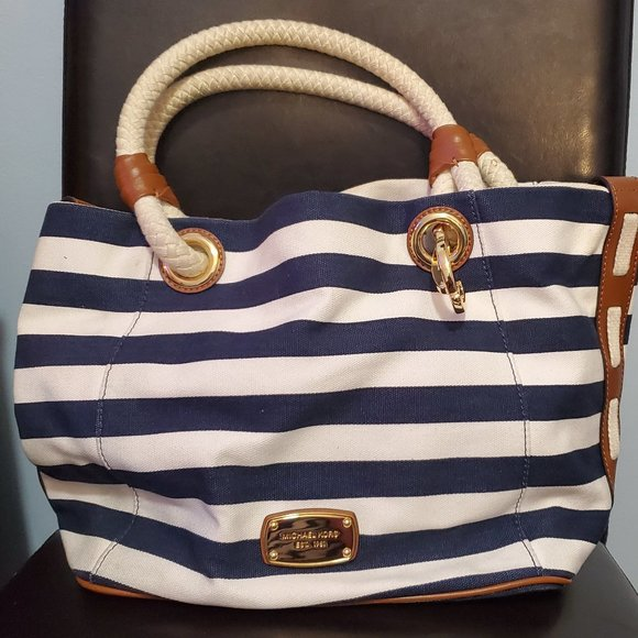 Michael Kors Blue & White Nautical Handbag